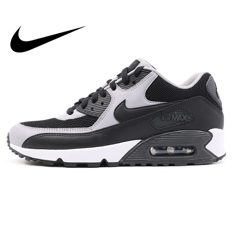 Original Authentic 2018 NIKE AIR MAX 90 ESSENTIAL Low Top Rubber Men's Running Shoes Sneakers Breathable Outdoor Sneakers 537384
