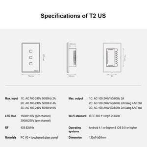 Image 4 - SONOFF T2US3C TX 3 כנופיה חכם מתג 433MHz שליטה אלחוטית RF APP/מגע בקרת טיימר USCompatible עם Google בית