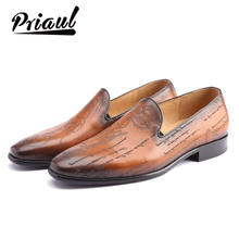 Leather shoes men leather custom Blake handmade mens office dress wedding party luxury brand casual lazy shoes loafers 2020