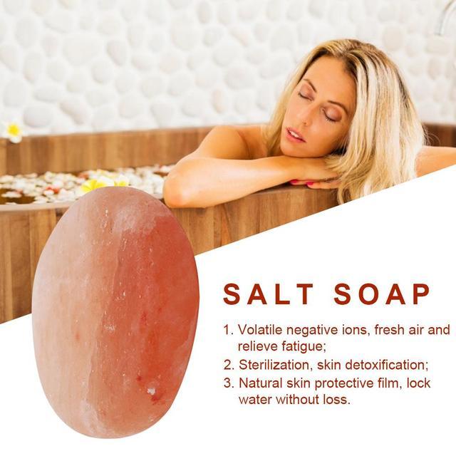 Swimming Salt Scrub Salt Soap Ball Natural Salt Health Cleaner Pore Acne Treatment Sea Salt Soap Cleaning Moisturizing Skin Care 1