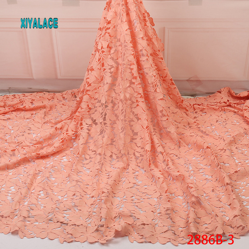 African Lace Fabric 2019 Wax Fabric African Print Fabric African Nigeria Veritable Real Wax 5Yards\set YA2886B-3