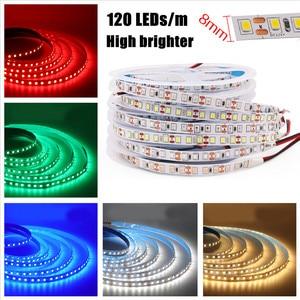 Image 3 - 2835 SMD tira LED 240 LEDs/m 5 M 300/600/1200 Leds DC12V alta brillante Flexible cinta de cinta de cuerda LED blanco cálido/blanco frío