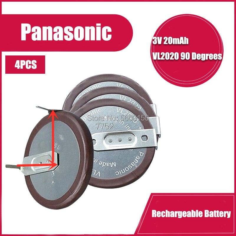 4 шт./лот PANASONIC VL2020 2020 литиевая аккумуляторная батарея с ножками 90 градусов для автомобильного ключа BMW