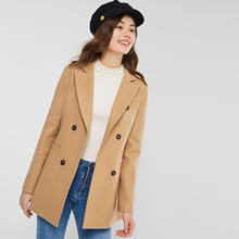 2019 Spring New Style Wool Blended Overcoat Cutaway Fold-down Collar Double Breasted Korean-style Fashion WOMEN'S Coat 670373(China)