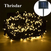 Thrisdar 50M 500 LED Christmas Solar String Light Fairy Garland Outdoor Wedding Party Garden Patio Holiday Garland Fairy Light