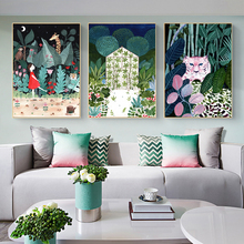Tiger Raccoon Giraffe Leopard Moroccan Boho Nordic Posters And Prints Wall Art Canvas Painting Wall Pictures For Bedroom Decor