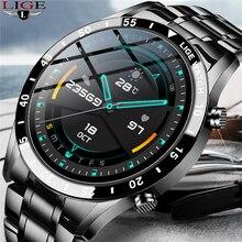 Lige 2021 relógio inteligente masculino de luxo para ios android