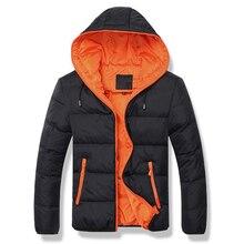 New Winter Jacket Men Thick Warm Down Jacket Coat Men Casual Hooded Parka Warm B