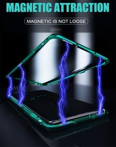 Image 5 - Funda magnética de doble cara con tapa de protección completa de 360 °, cubierta trasera de vidrio templado para Samsung Galaxy A 51 71, A51, A71