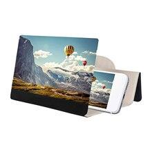 12 cali ekran telefonu 3D HD film wzmacniacz wideo uchwyt powiększalnik ekran smartfony powiększające wspornik