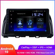Dasaita 10 2 #8222 IPS Android 10 samochodowe Stereo GPS dla CX5 CX-5 2013 2014 2015 Carplay w desce rozdzielczej Radio samochodowe WiFi DSP Audio wideo radioodtwarzacz tanie tanio CN (pochodzenie) Jeden Din 10 2 4x50W System operacyjny Android 10 0 Jpeg ABS+IRON 1024x600 Bluetooth Wbudowany gps Ładowarka
