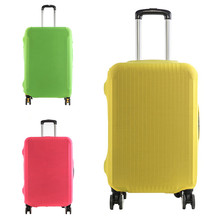 VOGVIGO Luggage Protective Covers Elastic Fabric Solid Color Travel Suitcase Dust Cover For 18-28 inch Cases Travel Accessories rerekaxi travel elastic luggage cover suitcase protective shell trolley case dust cover 22 28 inch travel accessories