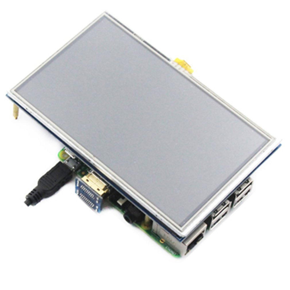 Monitor LCD de 5 pulgadas, pantalla capacitiva HD 1024X600 para Raspberry Pi 4, modelo B 3B +/3B/2B/B +