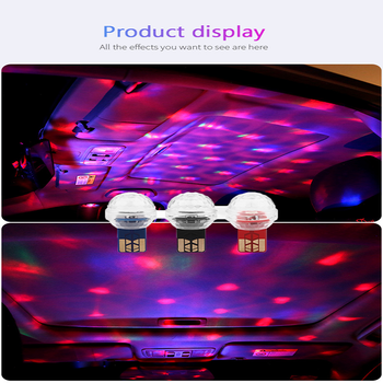 1Pcs Car Mini USB LED Atmosphere Light Colorful Vehicle Styling Car Goods Car Accessories For Mercedes Benz W204 W124 W211 W203 image