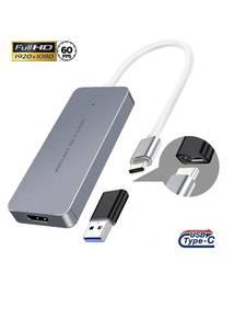 Type-C Live streaming converter USB3.0, HDMI 4K 30HZ  Video audio camera to USB3.0 PC UVC capture video up to 1080P60fps USB-C
