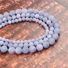 Wholesale Fashion Jewelry Frosted Purple Aquamarine 4/6/8/10 / 12mm Suitable For Making Jewelry DIY Bracelet Necklace
