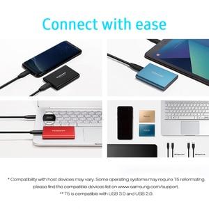 Image 3 - SAMSUNG Esterno Portatile SSD T5 USB3.1 250GB 500GB 1TB Hard Disk Esterno Unità A Stato Solido HDD per desktop Del Computer Portatile