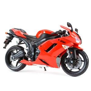 Image 2 - Maisto 1:12 Kawasaki Ninja ZX 6R Blauw Gegoten Voertuigen Collectible Hobby Motorfiets Model Speelgoed