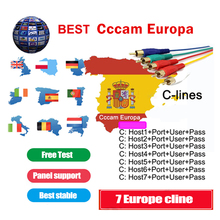 Europe Cccam 7 Europe cline Full HD 1 Year Cccam cline for Europe Usb wifi for Satellite TV Receiver DVB-S2 Server hd freesat v7 cccam cline europe dvb s2 freesat v7 satellite tv receiver set top box dvb s2 support powervu cccam youporn with usb wifi