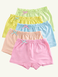 Girls Underwear Baby Panties Cotton-Material Children's Clothing Kids 5pcs/Lot Candy