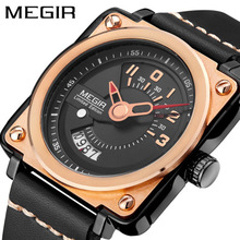 Top Brand Original Unique Design Square Men Wristwatch Wide Big Dial Casual Leather Strap Quartz Watch Male Sport Watches oulm 3364 casual wristwatch square dial wide strap men s quartz watch luxury brand male clock super big men watches montre homme