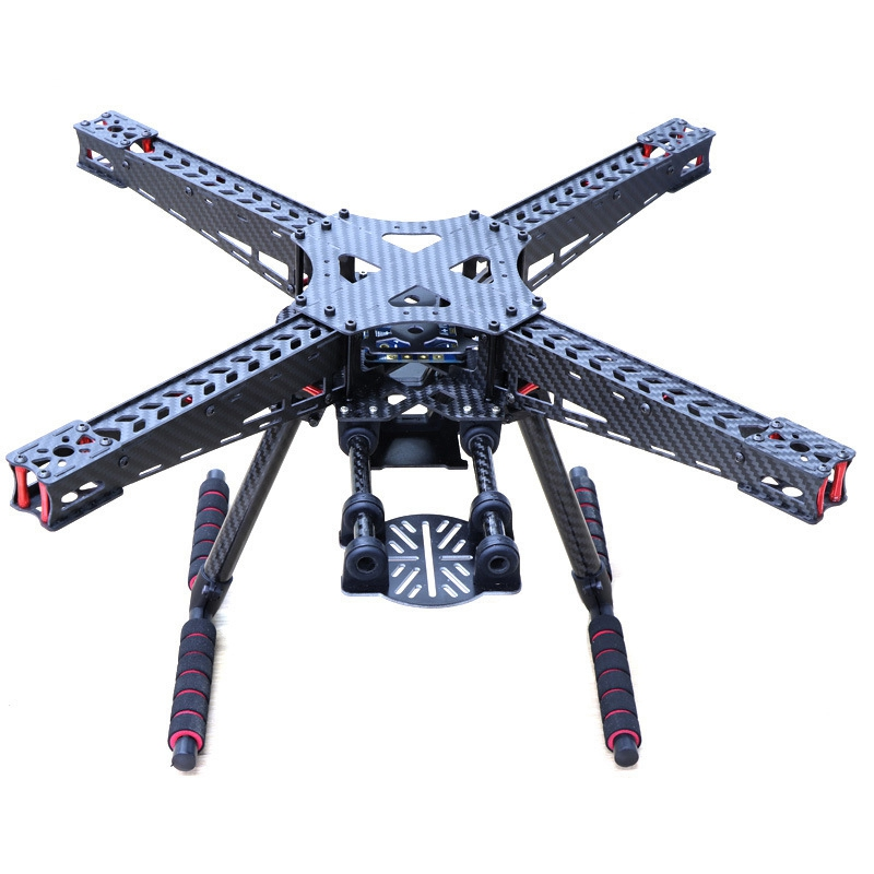 HSKRC59 X450 450Mm Carbon Fiber Quadcopter Frame Kit W/ Carbon Fiber Landing Gear Fit for Gimbal Upgrade F450|Drone Accessories Kits| |  - title=