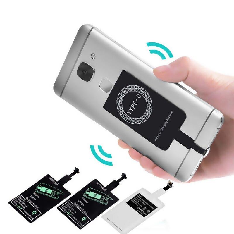 Chargeur sans fil récepteur à Induction Qi adaptateur de Charge pour iphone 7 6 6S 5S Micro USB type C sans fil chargeur dock connecteur