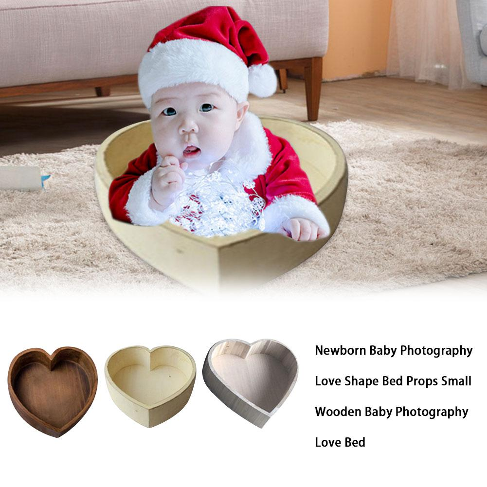 Newborn Baby Photography Love Shape Bed Props Small Wooden Baby Photography Love Bed Photo Props Crib For Baby
