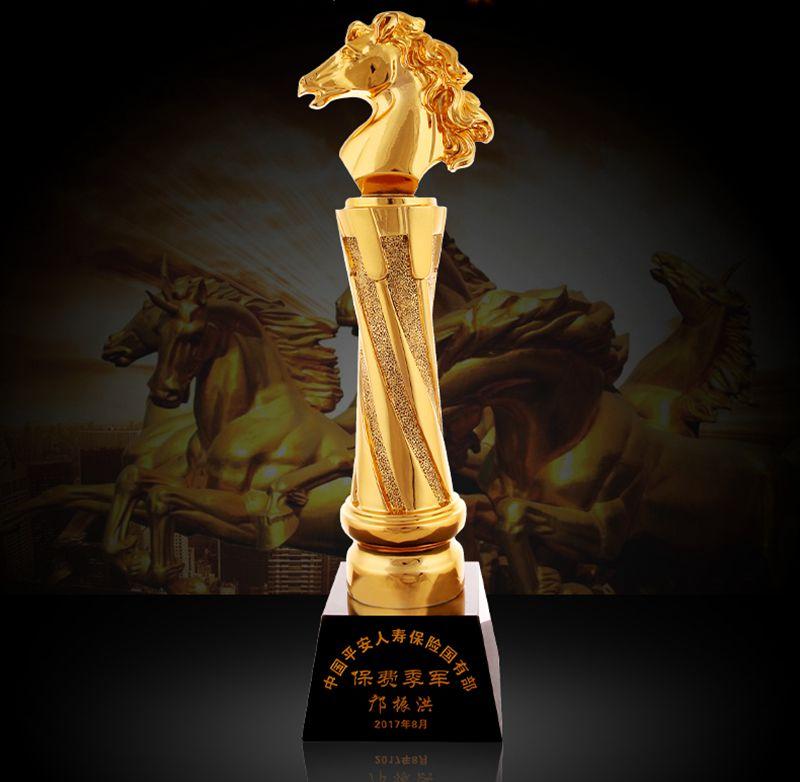 Trophée en résine de cheval doré de haute qualité trophée en cristal créatif artisanat décoration Souvenir, livraison gratuite!