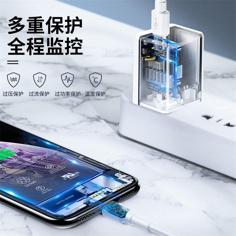 BASEUS Walker Type-c pd комплект зарядного устройства для быстрой зарядки Apple 11/Xs/MAX Flash Charge Line 18 W