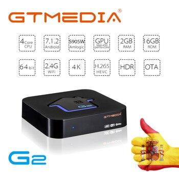 GTUI GTMEDIA G2 Android 7.1 Smart TV BOX 2G 16G Google S905W 4K 3D telewizor Ultra HD szybciej grać w gry Wifi netflix IPTV M3U Top BOX