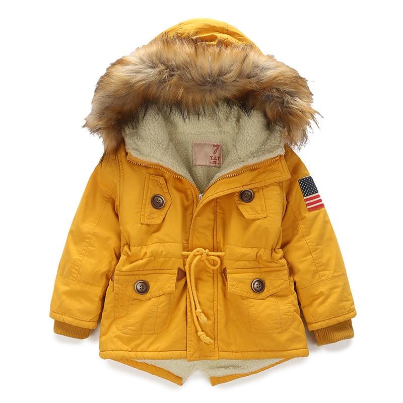OLEKID 2019 Autumn Winter Jacket For Girl Plus Velvet Hooded Baby Fleece Jacket 3-10 Years Kid Boy Outerwear Coat Children Parka