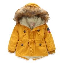 OLEKID 2020 가을 겨울 자켓 소녀 플러스 벨벳 후드 아기 양털 자켓 3 10 년 어린이 보이 아우터 코트 아동 파카