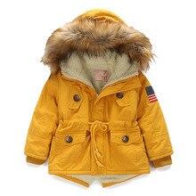 OLEKID 2020 sonbahar kış ceket kız artı kadife kapşonlu bebek polar ceket 3 10 yıl çocuk erkek giyim ceket çocuk Parka