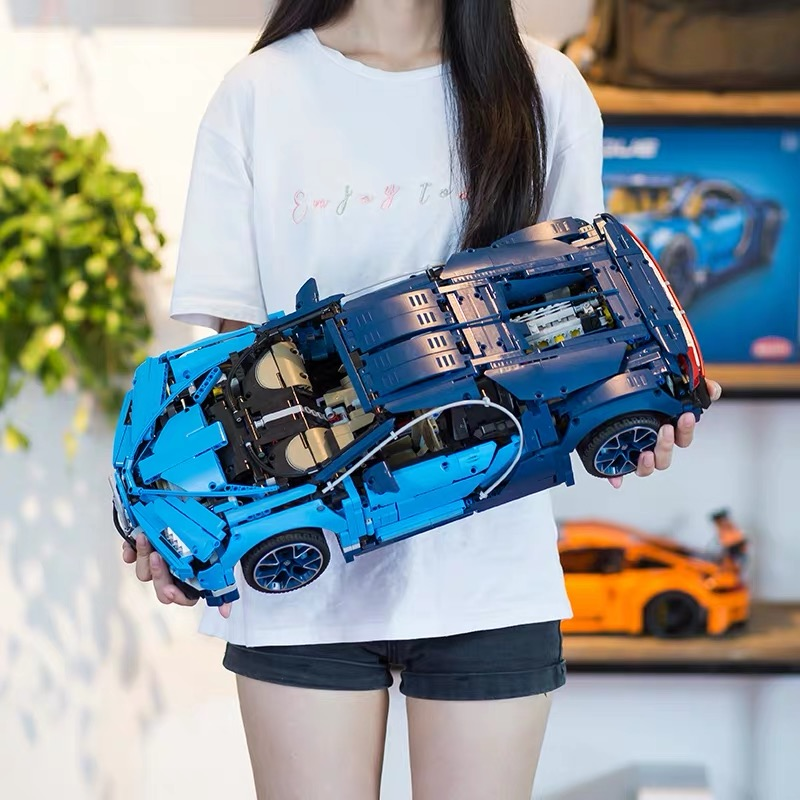 20086 Bugattis Chiron Racing Car Sets Kits Compatible With 42083 Building Blocks Technic Series Model LepinsBrick Kids Toys Gift