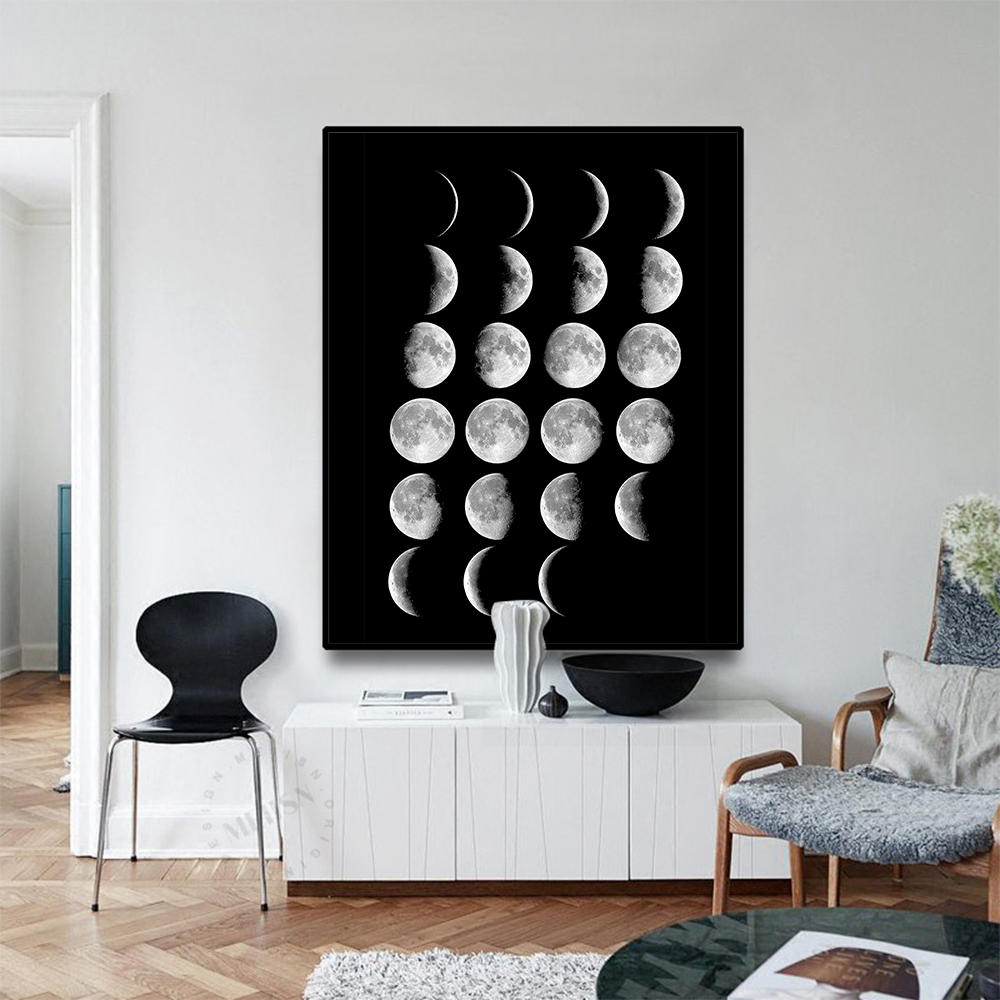 wall art decor for living room.htm 2019 laeacco moon landscape nordic canvas painting calligraphy  2019 laeacco moon landscape nordic