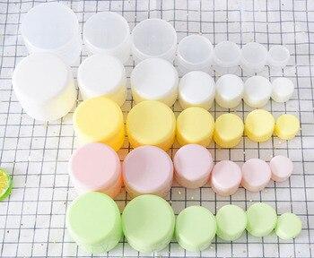 1/10PCS Refillable Bottles Plastic Empty Makeup Jar Pots Travel Face Cream Lotion Cosmetic Container Box Travel Bottle 10/20/30g 5
