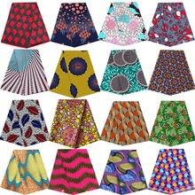 アンカラアフリカプリントバティック生地リアルワックスパッチワーク縫製ドレス素材アートワークアクセサリー1ヤードの高品質ポリエステル100%