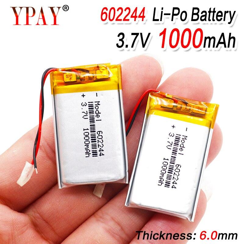 Bateria esperta do li-íon dos oradores mp3 da casa 1000 mah 3.7 v 602244 do polímero para dvd, gps, mp3,mp4,mp5 telefone celular, orador