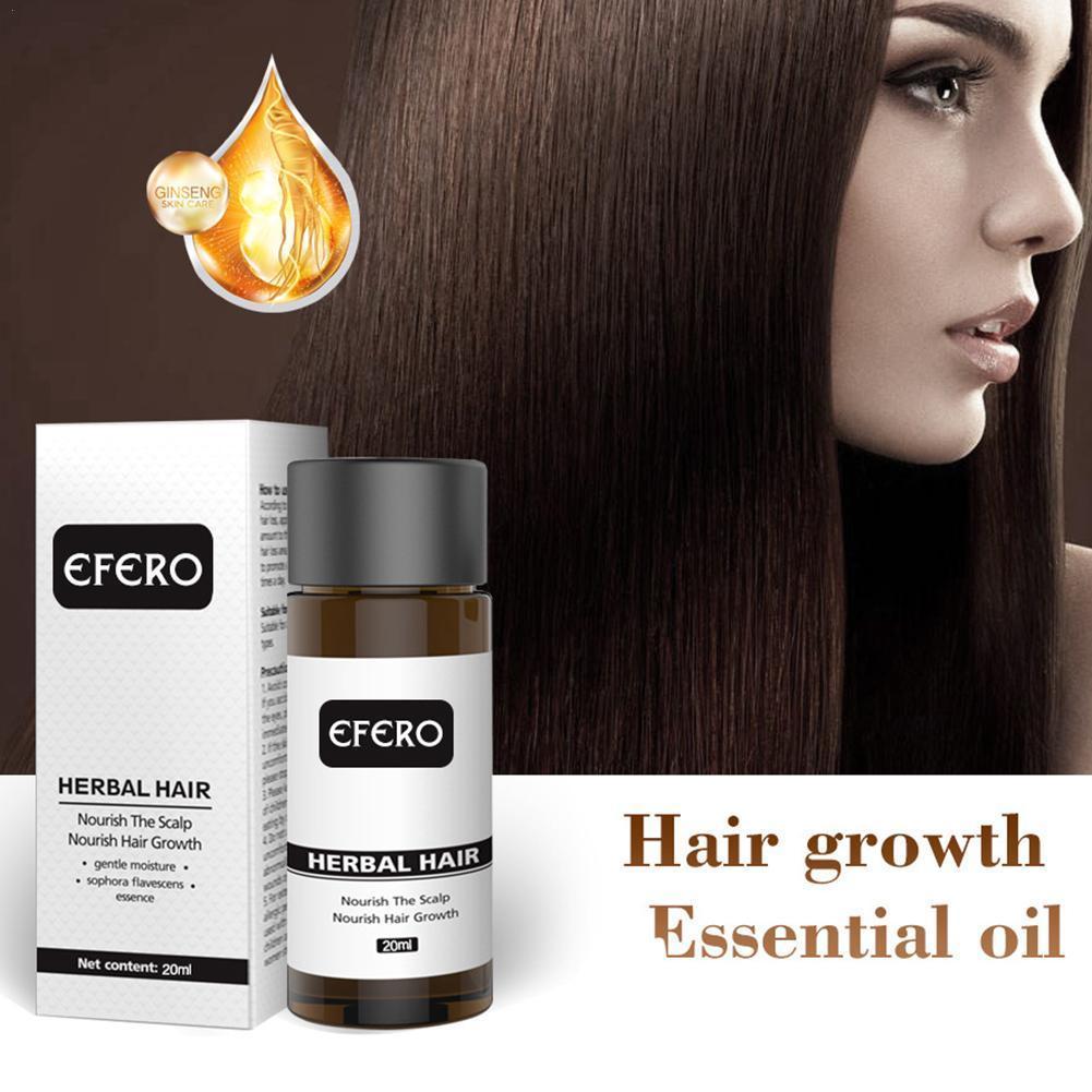 Professional Powerful Hair Growth Serum Prevent Hair Prevent Longer Baldness Oil Products Essential Grow Thicker Hair Loss B6P9