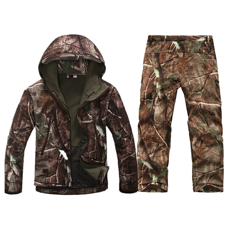 Image 2 - Mens TAD Softshell Tactical Jacket Outdoor Sport Camouflage Hunting Clothes Jacket Or Pants Military Suits For Climbing HikingHiking Jackets   -