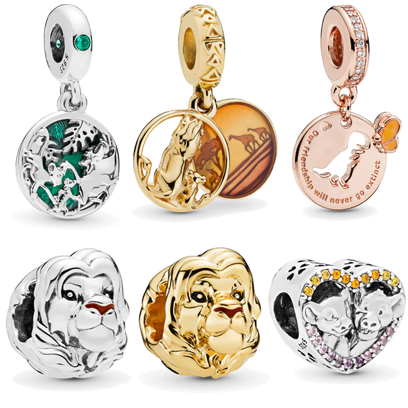 2019 New Arrival 925 Sterling Silver Beads The Lion King Mufasa Charms Fit Original Pandora Bracelets DIY Jewelry For Women