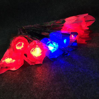 Led Glow Party Glow In The Dark Valentine's Day Simulation Cloth Roses Glowing Night Lights Christmas Gift Bar Wedding Supplies