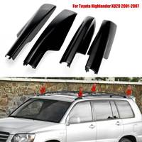 Autoleader 4PCS Roof Rack Bar Rail End Protection Cover Shell For Toyota Highlander XU20 2001 2007 New