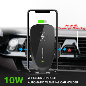 Image 2 - 10W araç kablosuz şarj için samsung s10 artı QI kablosuz hızlı şarj araç telefonu tutucu iPhone Xiaomi Huawei için araç şarj