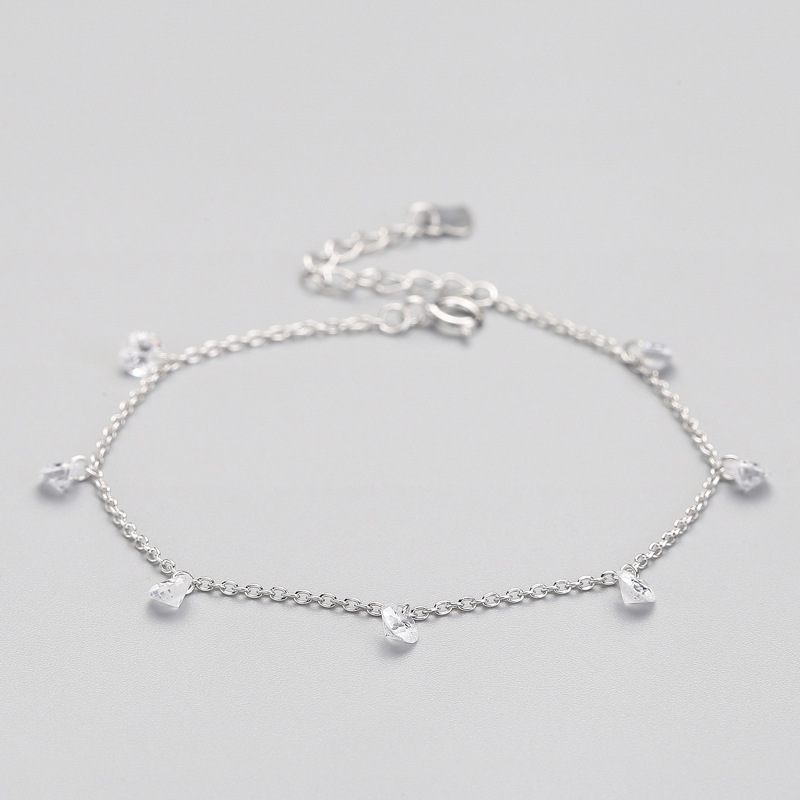 Classic Minimalist Crystal Water Drop Bracelet For Women Wedding Party Charm 925 sterling Silver Fine Jewelry 2019 Gift