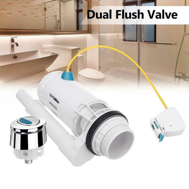 Water Tank Dual Flush Fill Drain Valves Flush Push Button Water Tank Part for Universal Seats Toilet  JDH99