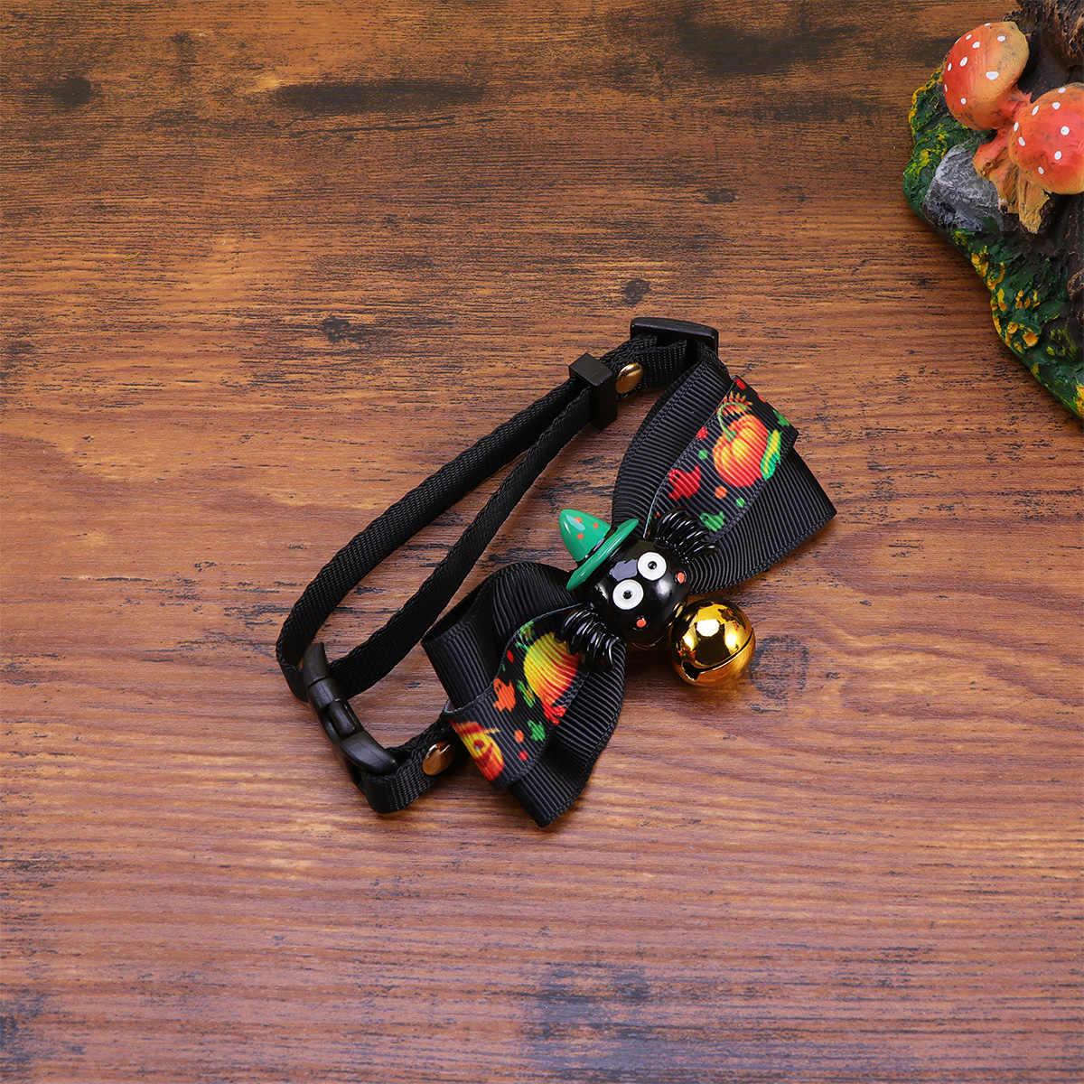 S גודל חמוד Cartool דפוס ליל כל הקדושים לחיות מחמד פעמון עניבת עניבת פרפר צווארון קישוט שימוש כלי