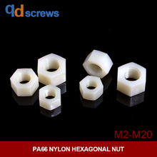 PA66 M2M2.5M3M4M5M6M8M10M12M14M16M18M20 plastic nylon hexagonal nut