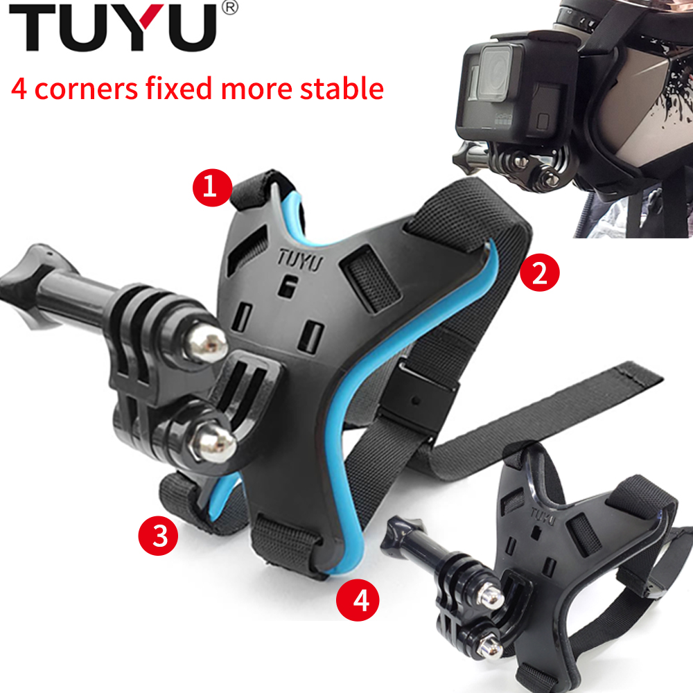 TUYU Full Face Helmet Chin Mount Holder for GoPro Hero 9/8/7/6/5 SJCAM Motorcycle Helmet Chin Stand for Gopro Camera Accessory-0